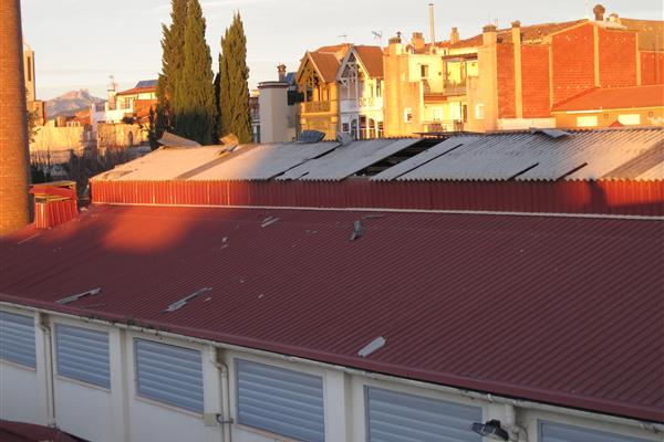 STRENGTHENING OF A PART OF THE ROOF OF TECNOS SCHOOL IN TERRASSA (BARCELONA)AFFECTED BY THE WINDSTORM OF DECEMBER 2014